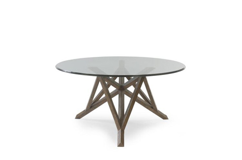 Image of Center Hall Table with Glass Top