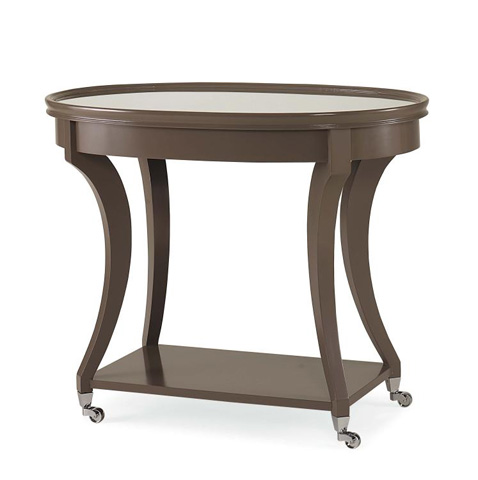 Century Furniture - Lamp Table with Mirror Insert Top - 779-621