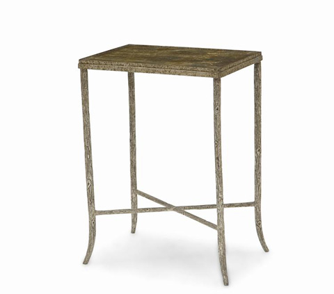 Image of Metal Chairside Table