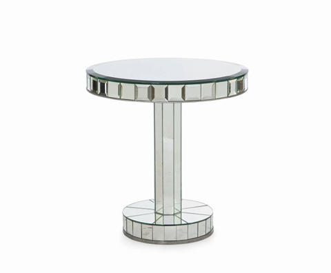 Image of Mirror Glass Chairside Table