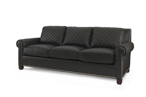 Image of Leather Quilted Sofa