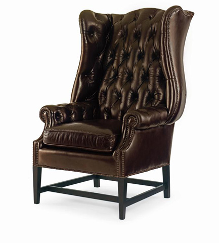 Image of Leather Wing Chair