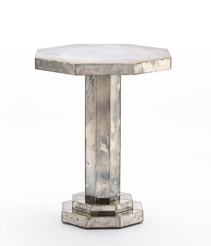 Image of Mirrored Chairside Table