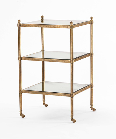 Image of Three Tiered Chairside Table
