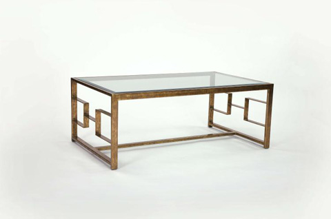Image of Glass Top Cocktail Table