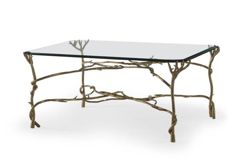 Century Furniture - Glass Top Cocktail Table - SF5435