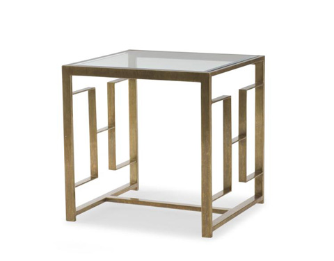 Century Furniture - Square Glass Top Lamp Table - SF5447