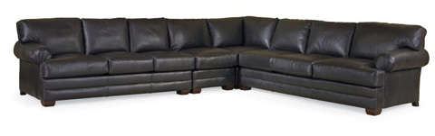 Century Furniture - Leatherstone Sectional with Sleeper - LR-7600-SECT
