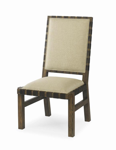 Image of Sierra Dining Side Chair with Leather Strap Trim