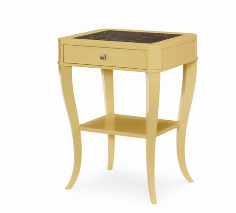 Century Furniture - Bedside Table with Marble Insert Top - 819-224M
