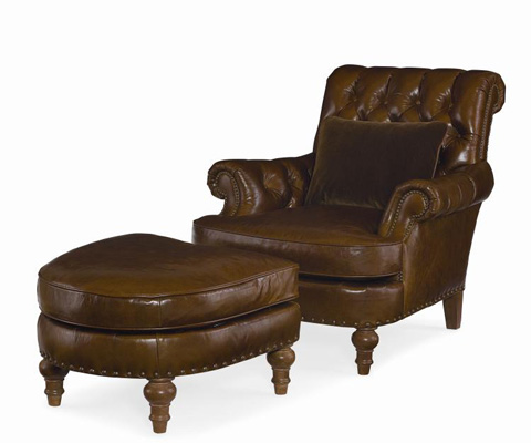 Century Furniture - Prescott Leather Ottoman - LR-38245
