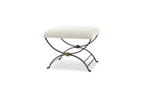 Image of Niles Bench with Fabric Seat