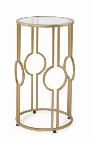 Century Furniture - Claire Accent Table in Gold - MN5441