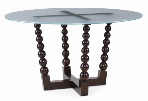 Century Furniture - Bobbin Dining Table with Frosted Glass Top - 719-306