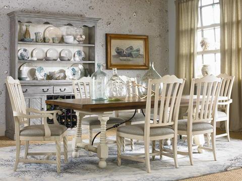 Century Furniture - Vitner's Club Dining Room Set - VITNERSDINING1
