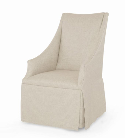Century Furniture - Meadow Host Chair - 3385A-LINEN
