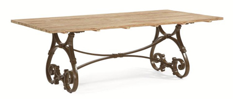 Image of Rectangular Trestle Table