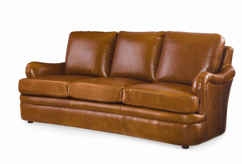 Century Furniture - Leather Sofa - PLR-6702-HONEY