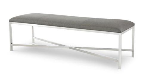 Century Furniture - Valence Metal Bench - 3949