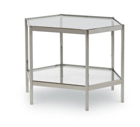 Century Furniture - Dax Side Table with Glass Top - AEA-646-1