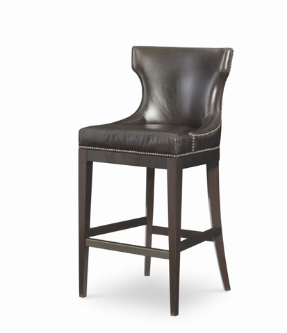 Image of Leather Barstool
