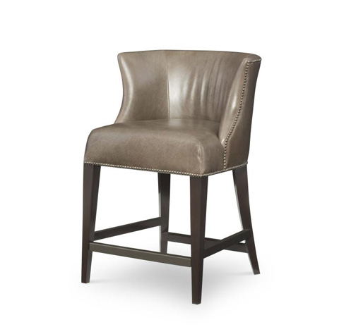 Image of Leather Counter Stool