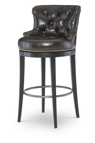 Image of Leather Swivel Barstool