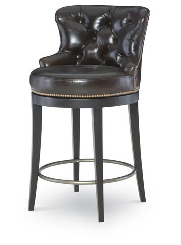Image of Leather Swivel Counter Stool