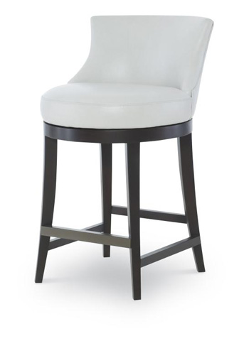 Century Furniture - Leather Swivel Counter Stool - PLR-3855C-PAPYRUS