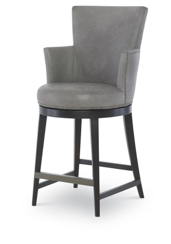 Century Furniture - Leather Swivel Counter Stool - PLR-3856C-GRANITE