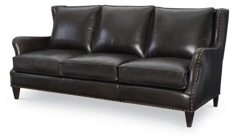 Century Furniture - Leather Sofa - PLR-9002-MOLASSES