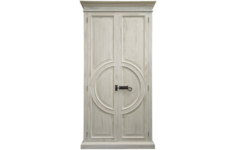 Image of Reclaimed Lumber Circle Armoire