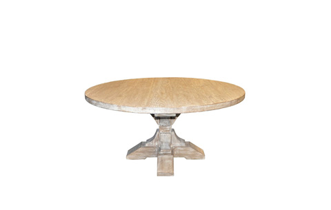 Image of Reclaimed Lumber Round Pedestal Dining Table