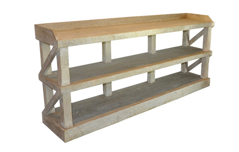 Image of Reclaimed Lumber Low Bookshelf