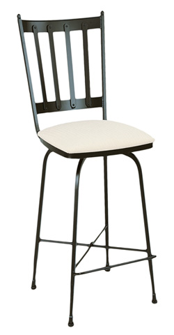 Charleston Forge - Circa 1905 Swivel Barstool - C735