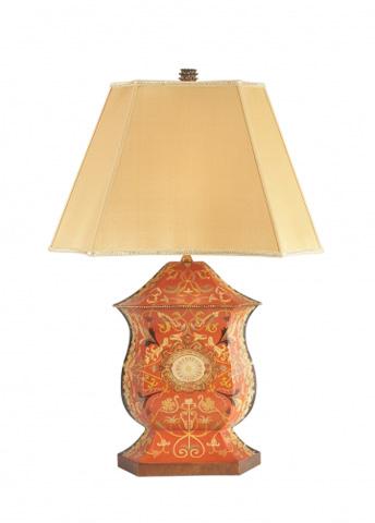 Chelsea House - Ellington Urn Lamp in Red - 68136