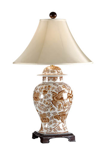 Chelsea House - Nutmeg Temple Jar Lamp - 68373