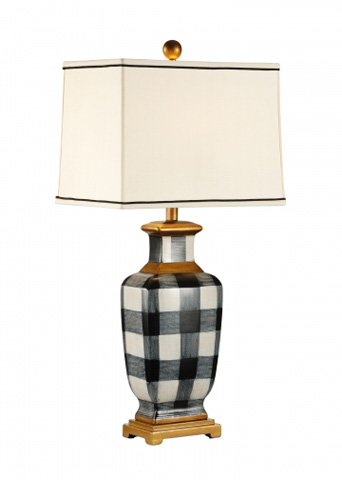 Chelsea House - Plaid Lamp - 68438