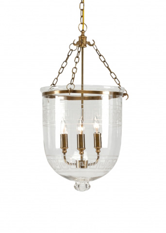 Chelsea House - Pendant With Glass Decor - 68453