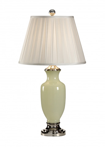 Chelsea House - Green Opaline Lamp - 68507