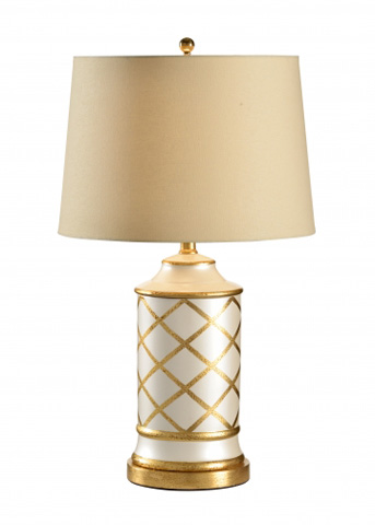 Chelsea House - Cylinder with Diamonds Lamp - 68540