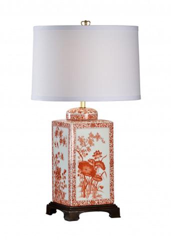 Chelsea House - Lotus Lamp in Red - 68627