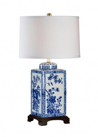 Chelsea House - Lotus Lamp in Blue - 68628