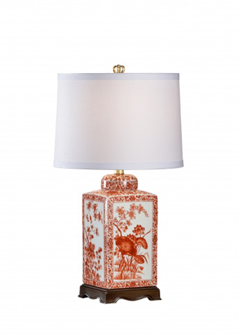 Chelsea House - Lotus Lamp in Red - 68630