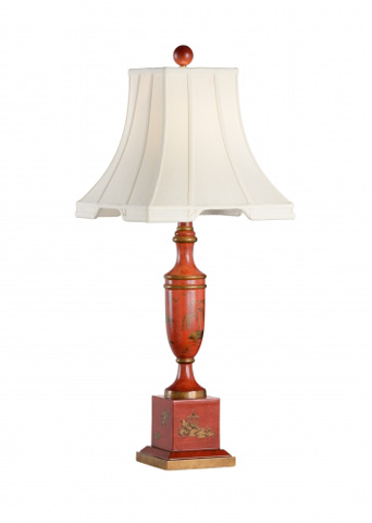 Chelsea House - Red Chinoisere Lamp - 68674