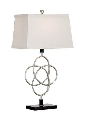 Chelsea House - Loose Knot Lamp in Silver - 68764