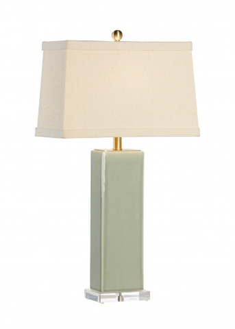 Chelsea House - Becker Vase Lamp in Green - 68816