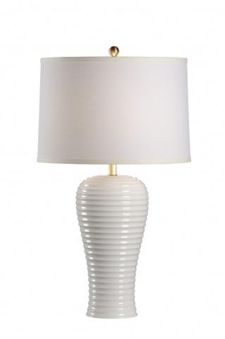 Chelsea House - Rigata Lamp in White - 68868