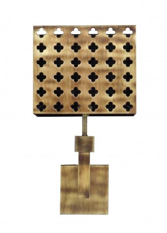 Chelsea House - Pierced Quatrafoil Sconce - 68892