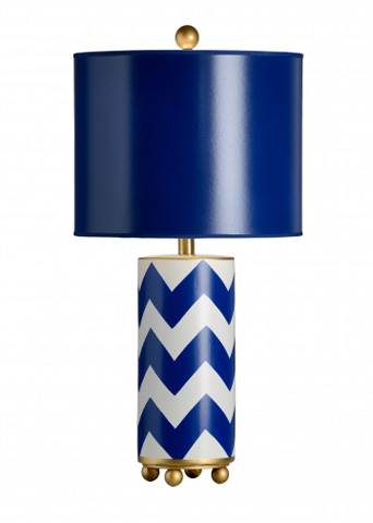 Chelsea House - Wrightsville Lamp in Blue - 68921